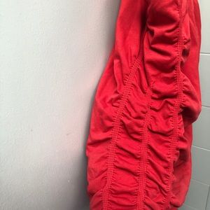 NUX Tops - NUX red tank top sz M with built in bra